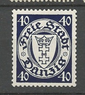 Danzig  1938  Michel No.: 295 Coat Of Arms 40 Pfg Watermark 5  Mint  Neverhinged Xx - Danzig