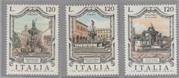 "FR.NU.0383A - REPUBBLICA 1978 - ""FONTANE D'ITALIA"" 3 V. Nuovi** - 6. 1946-.. República"