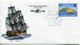 Pitcairn Islands 1988 Sydpex '88 - 15c Bounty Postal Stationery Cover (SG Unlisted) - Stamps
