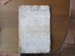 4 AVRIL 1765 GEN DE ROUEN TROIS SOLS ET DEUX SOLS 39 PAGES DEPOT DE SENTENCE ARBITRALE ENTRE M.FRANCOIS LEFEVRE ET M.ADR - Manuskripte