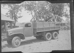Négatif Photo Guerre Indochine Militaires Français Jeep Hotchkiss Willis Camion Vietnam - War, Military