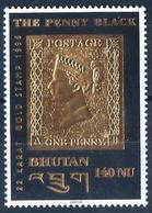 BHOUTAN - 1996 - N°... *** - THE BLACK PENNY - DORE A L'OR FIN - Bhután