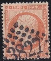France  .   Yvert   .     23       .        O          .        Oblitéré - 1862 Napoléon III