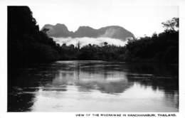 "08521 ""VIEW OF THE RIVER WVAE IN KANCHANABURI. THAILAND"" FOTOCART. ORIG. NON SPED. - Tailandia"