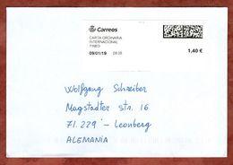 Brief, Freimachungslabel, Tineo Nach Leonberg 2019 (77857) - 1931-Heute: 2. Rep. - ... Juan Carlos I