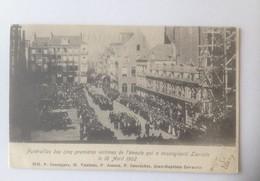Leuven Funérailles Des Cinq Premières Victimes De L'émeute Qui A Ensanglanté Louvain Le 18 Avril 1902  BLOEDNACHT - Leuven