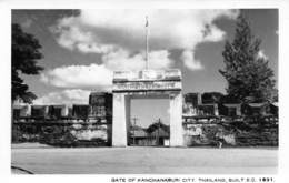 "08522 ""GATE OF KANCHANABURI CITY. THAILAND BUILT E.C. 1831"" FOTOCART. ORIG. NON SPED. - Tailandia"