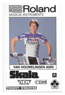 CARTE CYCLISME ADRI VAN HIUWELINGEN TEAM ROLAND 1987 - Cyclisme