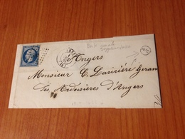 BREST - GC 511-  Boite Rurale Supplementaire F2 - Lettre Non écrite 1861   (port à Ma Charge ) - Marcofilia (sobres)