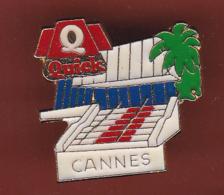 59593- Pin's.Quick.Cannes.marche Du Palais Des Festival.cinema. .. - Villes