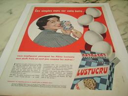 ANCIENNE PUBLICITE PATE ALIMENTAIRE OEUF FRAIS LUSTUCRU 1956 - Affiches