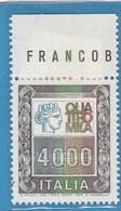 """FR.NU.0386B - REPUBBLICA 1978 - """"ALTI VALORI"""" 1 V. Nuovo** Da L.4000 - 6. 1946-.. República"""