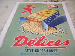 ANCIENNE PUBLICITE PATES SUPERIEURES DELICES  1956 - Affiches