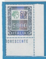 """FR.NU.0386C - REPUBBLICA 1978 - """"ALTI VALORI"""" 1 V. Nuovo** Da L.5000 - 6. 1946-.. República"""