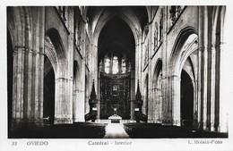 Espagne Oviedo Intérieur De La Cathédrale (2 Scans) - Asturias (Oviedo)