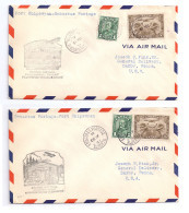 Canada 1931 2 First Flight Airmail Covers FFC Fort Chipewyan Embarras Portage - First Flight Covers