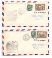 Canada 1931 2 First Flight Airmail Covers FFC Fort Chipewyan Embarras Portage - Primi Voli