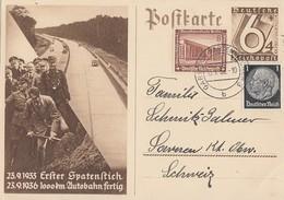 DR Ganzsache Minr.P263 Zfr. Minr.512,638 Garmisch 10.1.37 Gel. In Schweiz - Deutschland