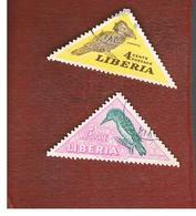 LIBERIA  -   SG 737.738 - 1953 BIRDS    -  USED° - Liberia