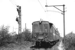 "08526 ""FVV 35 + ACD23 - VOGHERA (PV) - FOTO P. PICCHETTI - 30 GIUGNO 1966"" ANIMATA. TRENO. FOTO. ORIG. - Treni"
