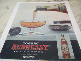ANCIENNE PUBLICITE    COGNAC HENNESSY 1956 - Alcohols