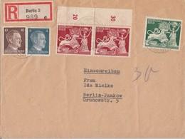 DR Orts-R-Brief Mif Minr.783,787,2x 816,817 Berlin 23.12.42 - Deutschland
