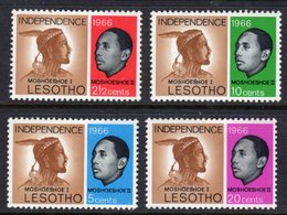 LESOTHO  - 1966 INDEPENDENCE SET (4V) FINE MOUNTED MINT MM * SG 106-109 - Lesotho (1966-...)