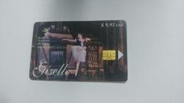 Cuba-ballet Nacional De Cuba-($9.95)-tirage-20.000-used Card+1card Prepiad Free - Cuba