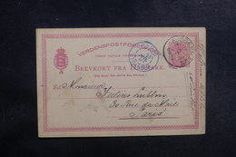 DANEMARK - Entier Postal Pour Paris En 1887 - A Voir - L 39641 - Entiers Postaux