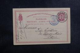 DANEMARK - Entier Postal Pour Paris En 1887 - A Voir - L 39642 - Interi Postali