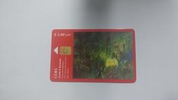 Cuba-vicente R.bonachea-($5.00)-tirage-30.000-used Card+1card Prepiad Free - Cuba