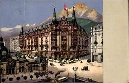Artiste Cp Luzern Stadt Schweiz, Waldstätterhof Savoy, Straßenpartie, Dampfschiff - LU Lucerne