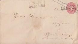Preussen GS-Umschlag 1 Sgr. R2 Belzig 24.4. Gel. Nach Brandenburg - Preussen