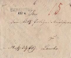 Preussen Brief L2 Merseburg 16.6. Gel. Nach Laucha - Preussen