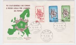 Italy FDC 1964 VII Stati Generali Dei Comuni E Poteri Locali Per L'europa Dei Popoli  (G98-45) - 6. 1946-.. República