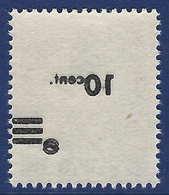 Sarre N°216** Papier Blanc Surcharge Recto Verso TTB - 1947-56 Occupation Alliée