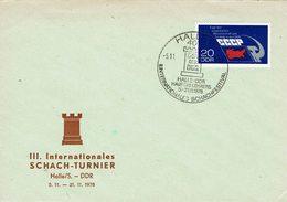 DDR - Halle 1978 - Schach Chess Ajedrez échecs - Schach