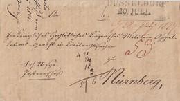 Preussen Brief L2 Düsseldorf 20.Juli (1827) Gel. Nach Nürnberg - Preussen