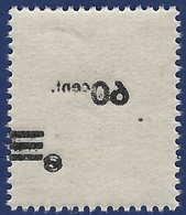 Sarre N°217** 60c /3pfg Papier Blanc Surcharge Recto Verso TTB - 1947-56 Occupation Alliée