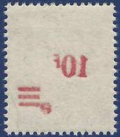 Sarre N°225** 10fr/50pfg Papier Blanc Surcharge Recto Verso TTB - 1947-56 Occupation Alliée
