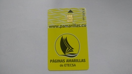 Cuba-paginas Amarillas-($9.95)-tirage-20.000-used Card+1card Prepiad Free - Cuba