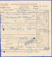Portugal, 1952 - Carta De Porte / Alferrarede - Portugal