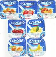 "Algérie- Danone - Série Complète De 7 Opercules De Yaourt. ""Yaoumi"" - Milk Tops (Milk Lids)"