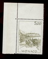 Monaco 1986 - Neuf - Scanné Recto Verso - Y&T N° 1518 - Monaco D'autrefois - La Diligence - 5,00 - Unused Stamps