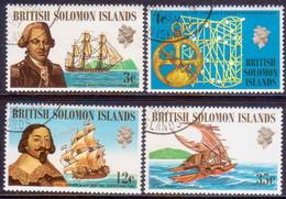 BRITISH SOLOMON ISLANDS 1971 SG #201-04 Compl.set Used Ships And Navigators (1st Series) - British Solomon Islands (...-1978)