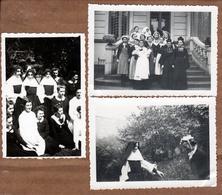 3 Photos Originales Attrapade Du 26.10.1938 - Déguisements - Bonnes Soeurs & Sosie De Nicolas Sarkozy - Anonymous Persons