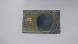 Cuba-pluma De Pavo Real Pavo Cristatus-($20.00)-tirage-30.000-used Card+1card Prepiad Free - Kuba
