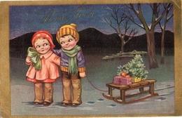 Attribué à E Colombo - Enfants Luge (gam 2346) - Colombo, E.