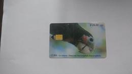Cuba-la Cotorra Parrtos-($20.00)-tirage-30.000-used Card+1card Prepiad Free - Kuba