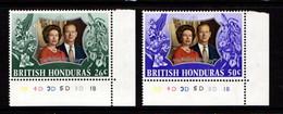 BRITISH  HONDURAS    1972    Royal  Silver  Wedding    Set  Of  2    MNH - British Honduras (...-1970)